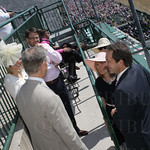 Churchill Downs CEO William Carstanjen talks with the Governors of Montana and New Hampshire.