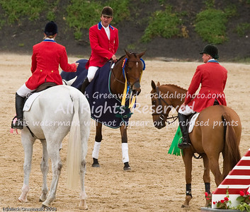 Before the presentations and victory gallop