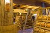 Interior storage and architecture of The Ark at The Ark Encounter, Williamstown, Kentucky, USA.