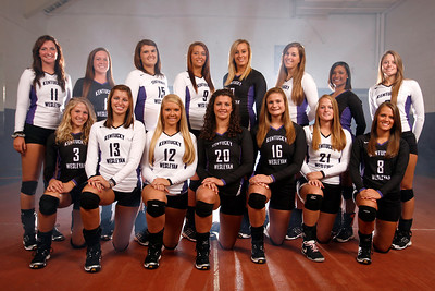 2012 KWC Volleyball Team. This photograph should be ordered in one of the following sizes to avoid cutting off portions of the image: 4x6, 8x12, 12x18, 16x24, 20x30 or 24x36.