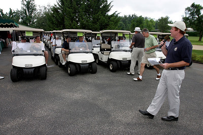 Friday afternoon during the Golf Scramble at Owensboro Country Club. The scramble was part of the Kentucky Wesleyan College Basketball 100th Anniversary celebration.