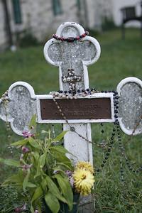 Thomas Merton's grave marker.