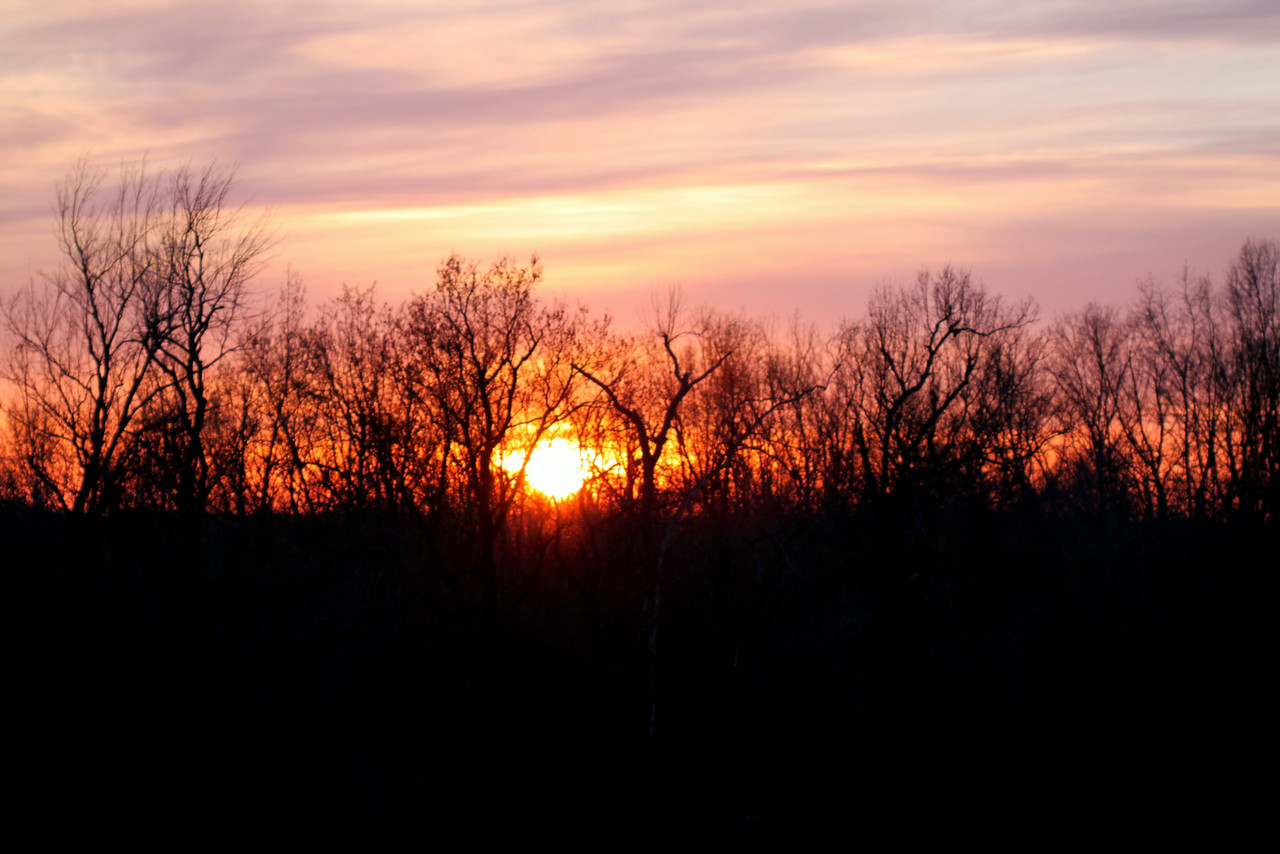 Sunset, Breckinridge County, Kentucky<br /> Early Spring 2014