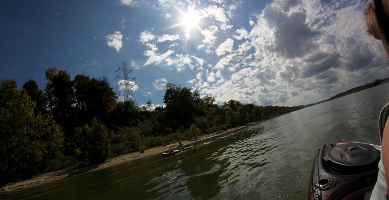 Kentucky Shoreline on the Ohio River near Cinncinnati