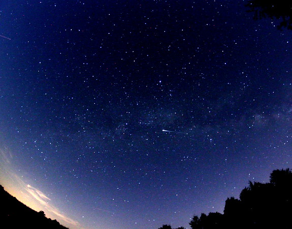 ISS passes by Milky Way in the Early Evening