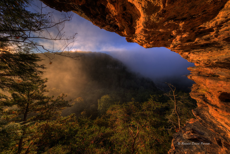 Photo 5 of 7, Foggy October Sunrise at Ledge Overlook