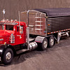 This grain hauler is a Melvin Kuhlman creation and the cab is a Jim Simmons unit.