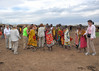 Masai women getting us to dance with them.