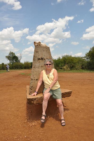 Sitting on the border between Kenya and Tanzania.
