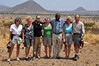 Our safari van gang.  Left to right...Patty, Marty, Claudia, Anne, Evans (our driver and guide), Paunee, and Phil.