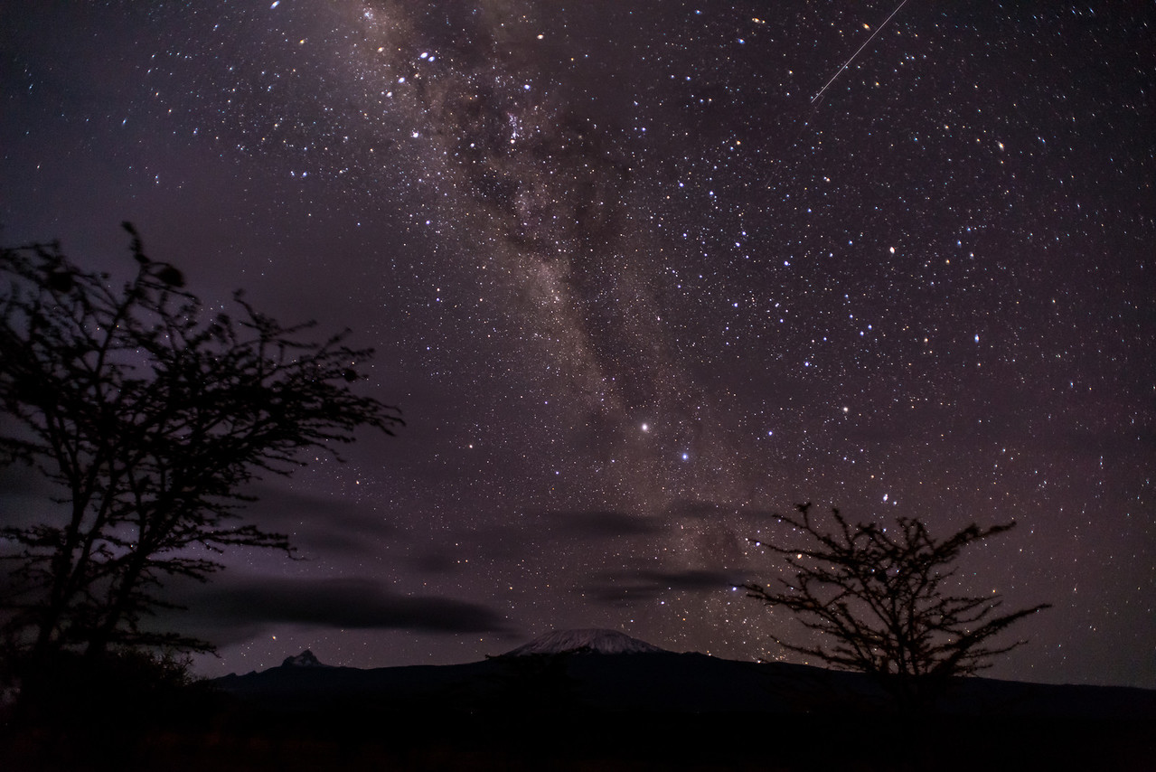 Milky Way over Kilimanjaro