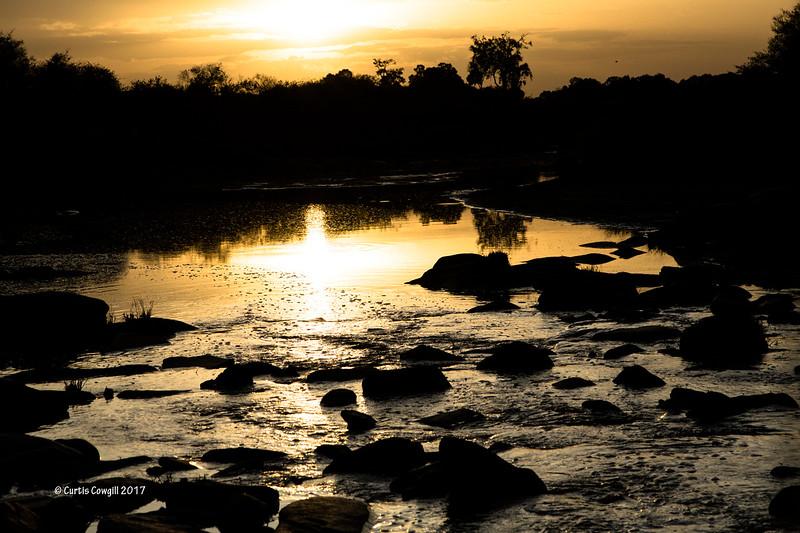 River crossing at Sunrise