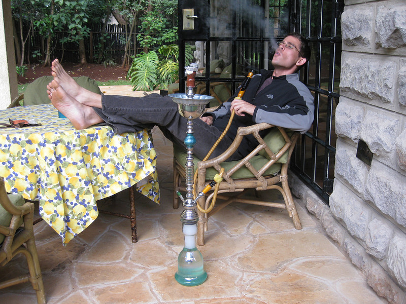 Testing out the new hookah.