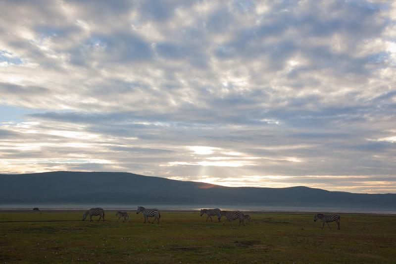 Sunrise over Nakuru national park
