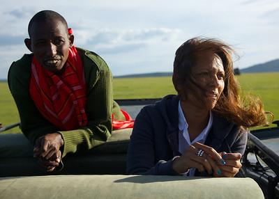 Each vehicle had a Masai spotter