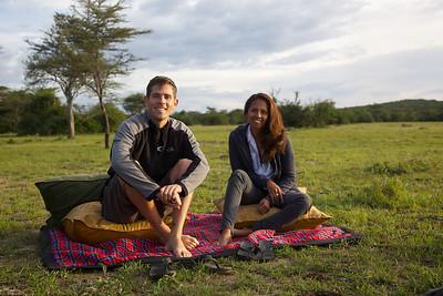 Sundowners in the Mara