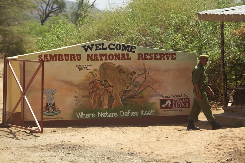 Entering Samburu National Park