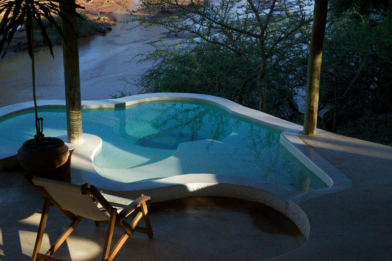 View of the river from our plunge pool