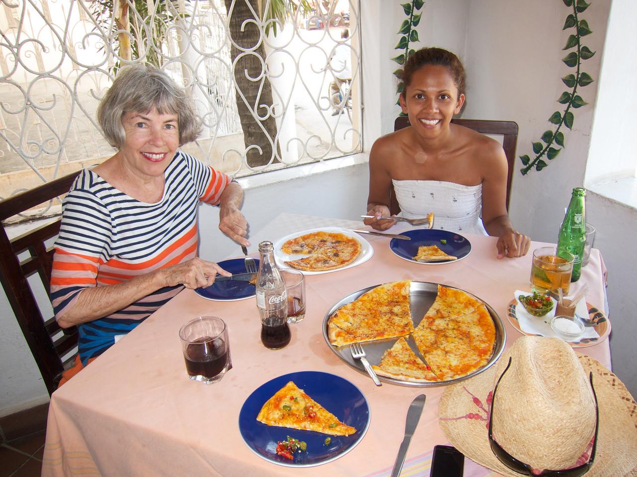 Pizza in Malindi