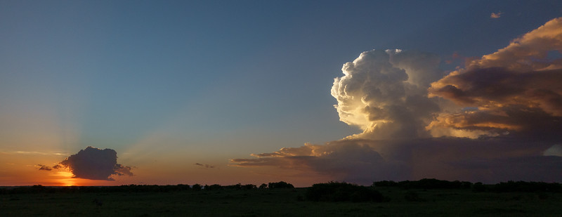 Sunset and storms, typically African at this time of year...