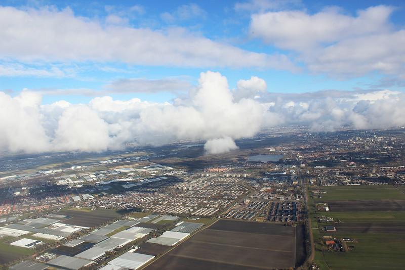 Flying over Amsterdam