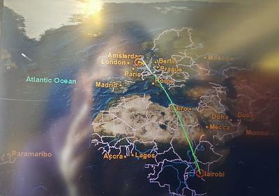 Second Flight - Amsterdam to Nairobi