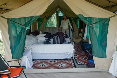 Our tent at Nakuru