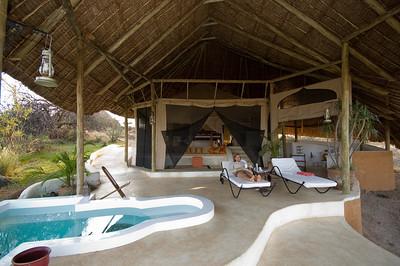 Our open-air room at Sasaab