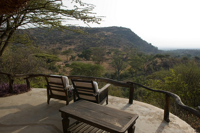 The view out our room at the Lodge at Lewa