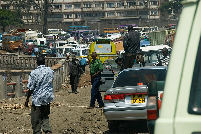 Gridlock in Nairobi, a common occurrence....