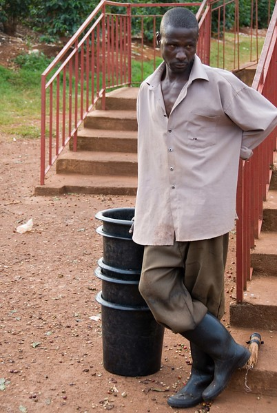 """Man with 5 buckets, or """"debes""""."""