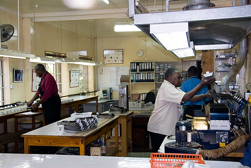 I was the guest of C Dorman Ltd., a Kenya exporting company specializing in the finest qualities.  I have been working with them since the days of The Coffee Connection.  This is one of their cupping labs.