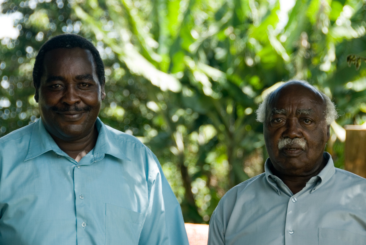 Walter Mathagu and his son Patrick who is taking over the farm.  Walter was a colonel in the army; it shows!  He is engaging, anxious to inform, direct, and carries himself with natural authority.