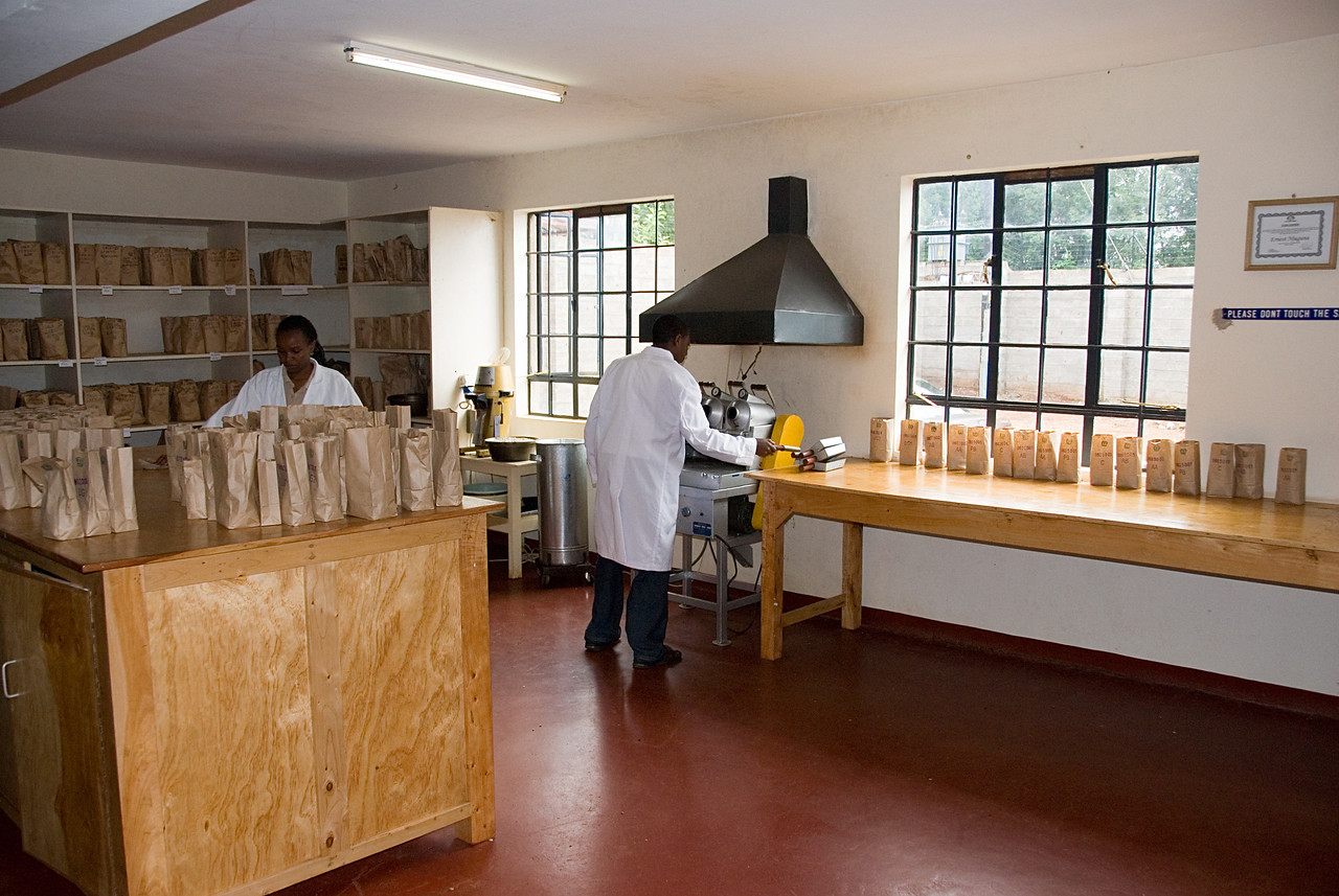 CKCM's cupping lab monitors quality.  CKCM also offers agricultural supports for farmers.  The introduction of such mills in coffee country and of competing services should help improve farmers' lives.