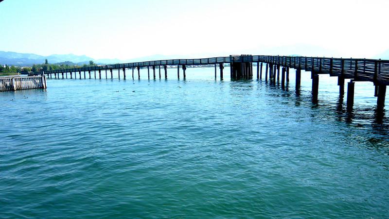 Longest wooden bridge in Switzerland