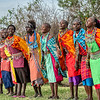 The women of the Maasai village