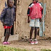 Young Maasai boys in the early morning chill