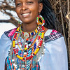 Portrait of a Maasai woman