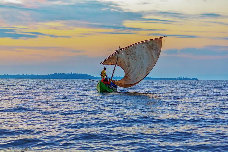 Fishermen on sailboat