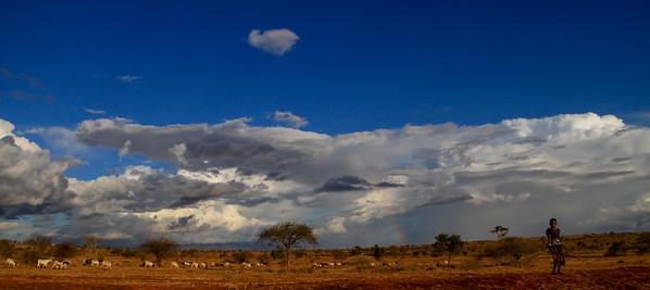 Villages and beautiful vistas in Kenya