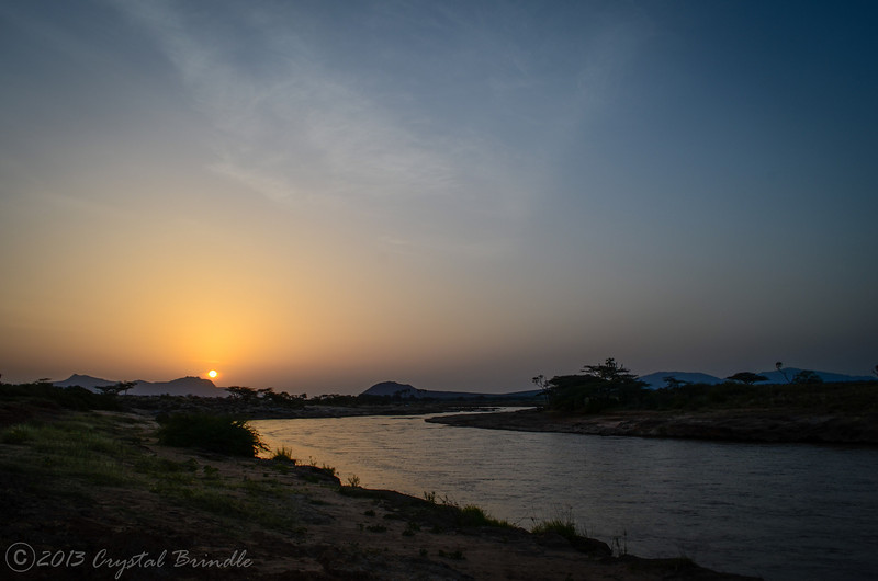 Sunrise Over the Ewaso Ngiro