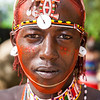 Africa. Kenya. Young Samburu male at traditional dance ceremony in Samburu NP.
