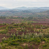 Africa. Tanzania. View of highland farms east of Ngorongoro Crater, Ngorongoro Conservation Area.