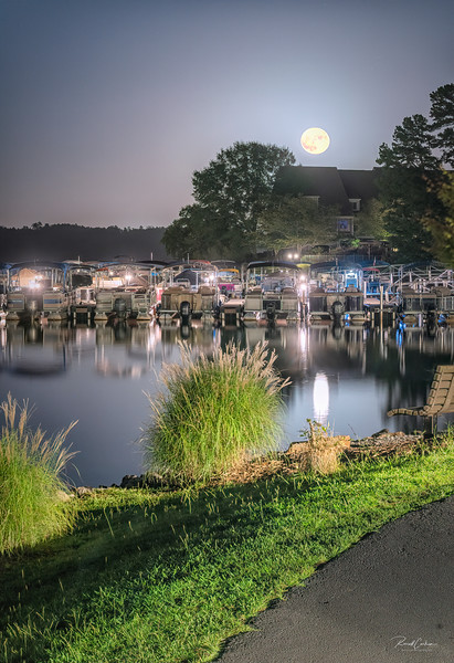 Moon Rise Over the Marina (2)