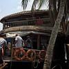 Boarding a Houseboat