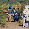 Roger Schneider | The Goshen News<br /> <br /> Kyle Goehring and Steph Vimiprove of Fort Wayne leave the corn maze Saturday at Kercher's Sunrise Orchard and Farm Market.