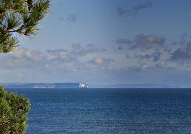 A clear view of the Isle of Wight and The Needles.