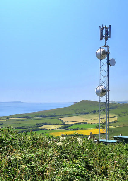Equipment providing mobile phone coverage to Kimmeridge