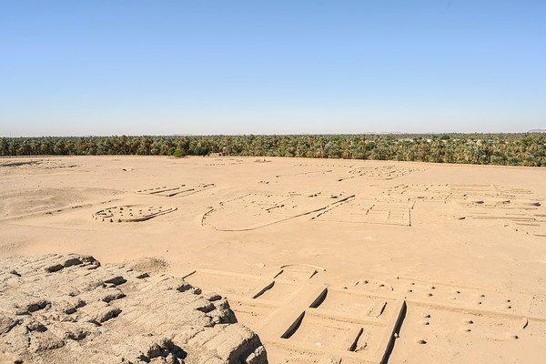 The city of Kerma from the top of the Western Defuffa.