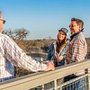 Arcadia's 'sound-man' chatting with Kylie Frey and her manage on the Arcadia's beautiful balcony overlooking  the Guadalupe River